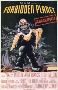 planeta prohibido cartel poster forbidden planet